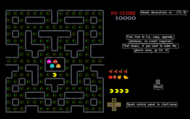 The Powder Toy - Pac Man - With sound effects! by awbeacon