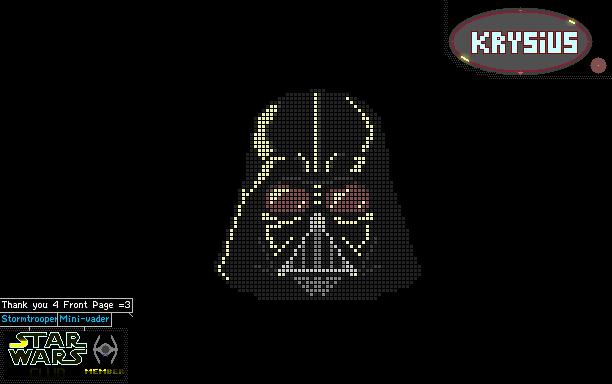 The Powder Toy Darth Vader Pixel Art By Krysius